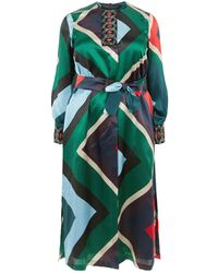 Marina Rinaldi - Silk Embellished Neck Tunic - Lyst