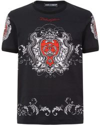 Dolce & Gabbana - Coat Of Arms T-shirt - Lyst