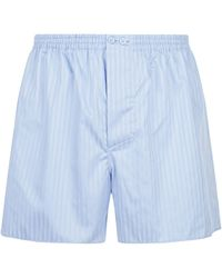 Zimmerli - Woven Stripe Boxer Shorts - Lyst