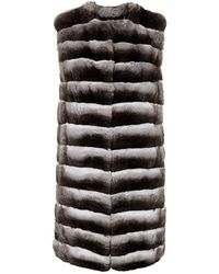 Harrods - Long Chinchilla Gilet - Lyst