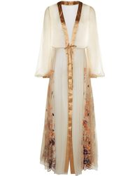 I.D Sarrieri - Embroidered Long Robe - Lyst