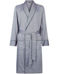 Harrods - Birdseye Print Robe - Lyst
