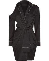 Alexander Wang - Pinstripe Mini Dress - Lyst