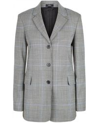 Theory - Prince Of Wales Check Jacket - Lyst