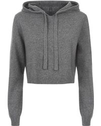 MILLY - Cashmere Hoodie - Lyst