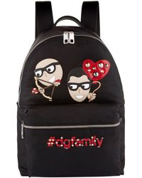 Dolce & Gabbana - Black Cupid Family Backpack - Lyst