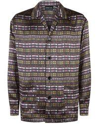 Meng - Printed Silk Pyjama Set - Lyst