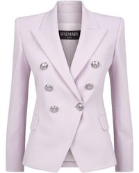Balmain - Double-breasted Wool Blazer - Lyst