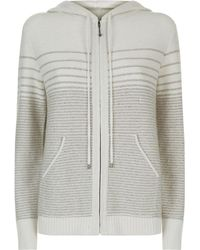 St. John - Knitted Sequin Hoodie, White, L - Lyst