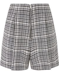 Sandro - Check Shorts - Lyst