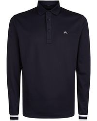 J.Lindeberg - Long Sleeve Golfing Polo Shirt - Lyst