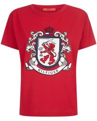 Tommy Hilfiger - Crest Logo T-shirt - Lyst