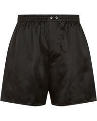 Zimmerli | Interlocking Flower Silk Boxer Shorts | Lyst