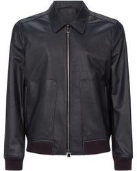 Corneliani - Zipped Leather Jacket - Lyst