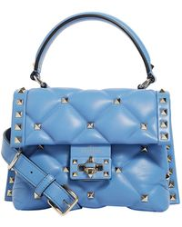 80939eb49c4 Recently sold out. Valentino - Mini Leather Candystud Top Handle Bag ...