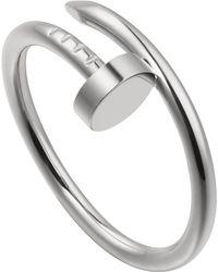 Cartier - Juste Un Clou 18ct White-gold Ring - Lyst