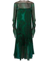 Akris - Malachite Silk Dress - Lyst