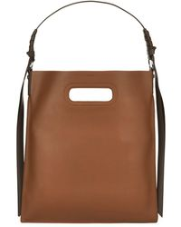 AllSaints - Leather Voltaire Flat Hobo Bag - Lyst