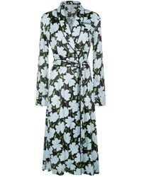 Off-White c/o Virgil Abloh - Floral Belted Robe, Green, It 36 - Lyst