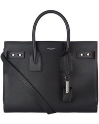 Saint Laurent - Small Leather Sac De Jour Tote Bag - Lyst