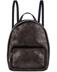 b915570649dd Lyst - Stella Mccartney Falabella Shaggy Deer Small Backpack in Gray