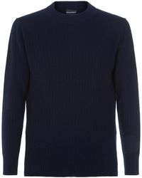 Emporio Armani - Ribbed Knit Sweater - Lyst