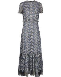 Luisa Beccaria - Floral Embroidered Dress - Lyst