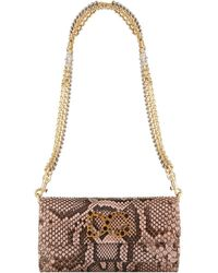 Dolce & Gabbana - Dorina Python Clutch - Lyst