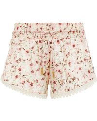 Paloma Blue - Patterned Silk Shorts - Lyst