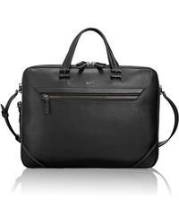 Tumi | Collins Leather Briefcase | Lyst