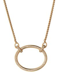 Links of London - Yellow Gold Vermeil And White Topaz Ovals Necklace - Lyst