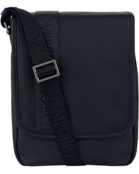 Armani   Flap Front Messenger Bag   Lyst