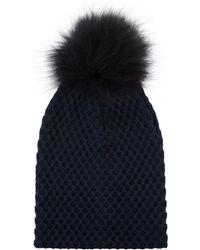 Claudie Pierlot - Ablis Knitted Pom Pom Hat - Lyst