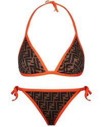 Fendi - Reversible Logo Bikini - Lyst