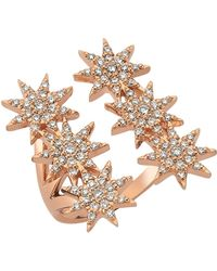 Bee Goddess - Venus Star Rose Gold Ring - Lyst