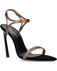 Saint Laurent - Leather Talitha Sandals 105 - Lyst