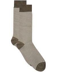 Harrods - Stripe Cotton Lisle Socks - Lyst