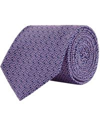 Turnbull & Asser - Patterned Silk Tie, Pink, One Size - Lyst