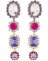 Dolce & Gabbana - Crystal Embellished Earrings - Lyst