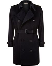 Burberry - Kensington Cashmere Trench Coat - Lyst