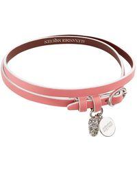 Alexander McQueen - Leather Wrap Bracelet - Lyst