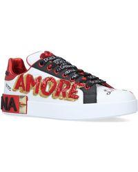 Dolce & Gabbana - Portofino Amore Trainers - Lyst