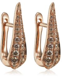 Annoushka - Rose Gold Diamond Hoop Earrings - Lyst