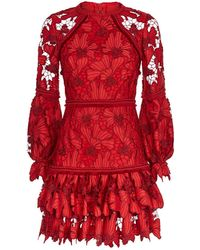 Alexis - Fransisca Floral Embroidered Dress - Lyst