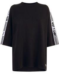 PUMA - Oversized Logo Tape T-shirt - Lyst
