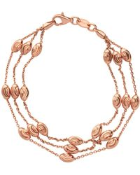 Links of London - Rose Gold Vermeil Essentials Beaded 3 Row Bracelet - Lyst