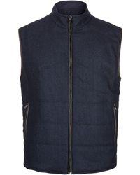Corneliani - Reversible Wool Suede Gilet - Lyst