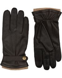 Dents - Leather And Cashmere Gloves - Lyst