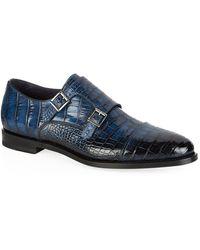 Santoni Alligator Monk Shoe