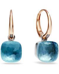 Pomellato - Nudo Blue Topaz Rose Gold Earrings - Lyst